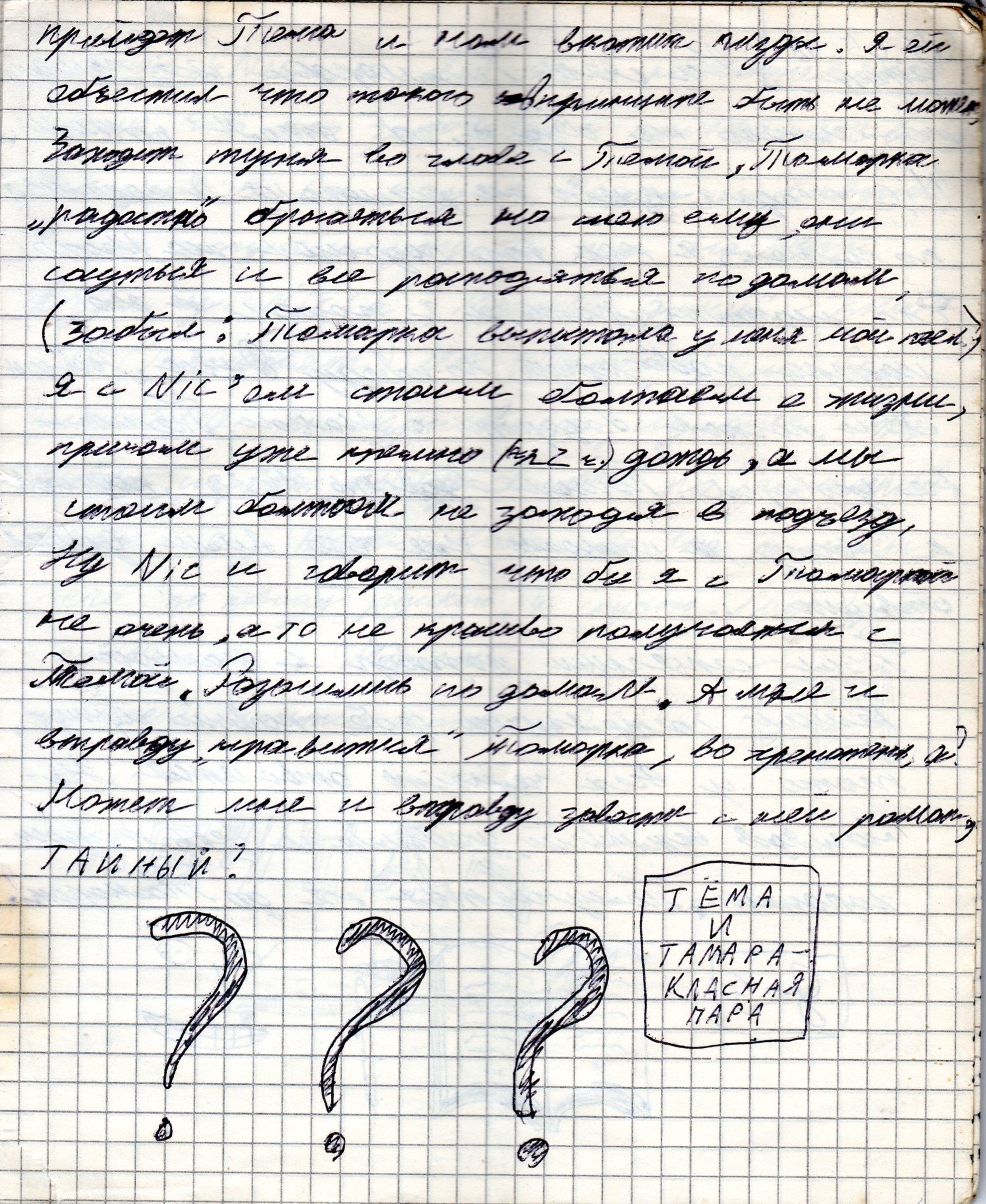 Запись из дневника от 06.05.1998, 3 страница из 3