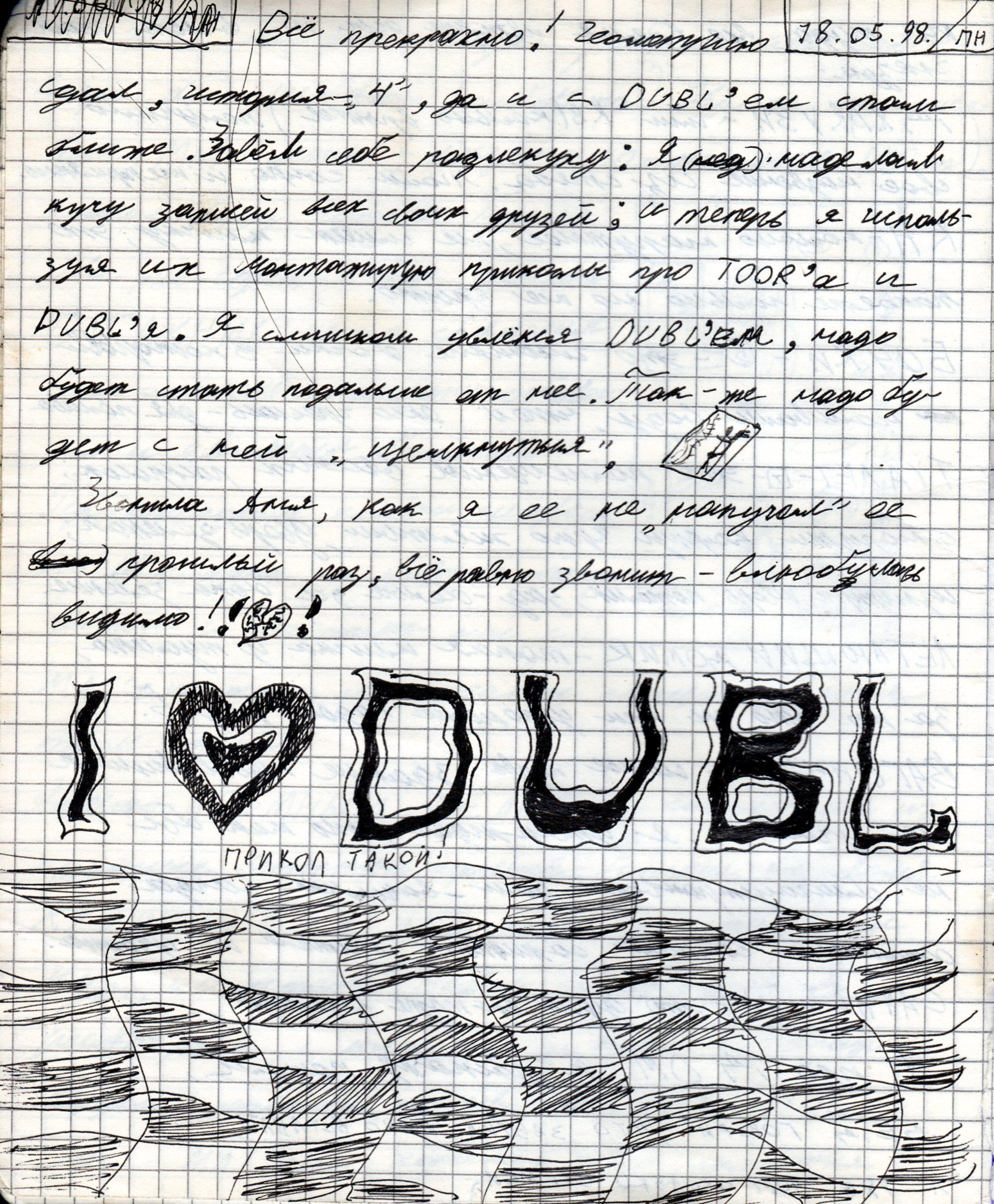 Запись из дневника от 18.05.1998